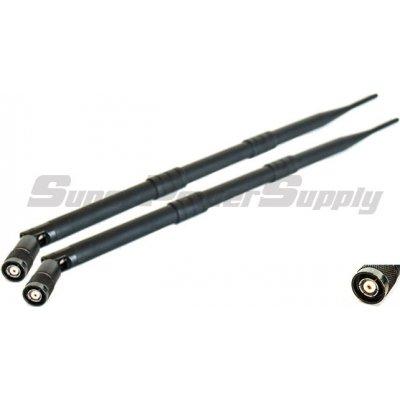 Super Power Supply® 2 x 9dBi 2.4GHz 5GHz Dual Band WiFi RP-TNC Antenna