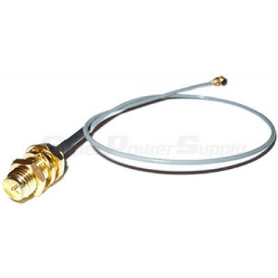 Super Power Supply® 20 x 8in / 20cm Mini PCIe U.FL / IPEX to RP-SMA Antenna Bulkhead Pigtail Cable for Wireless Routers