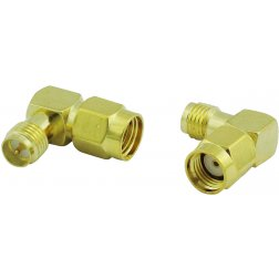 Super Power Supply® RP-SMA Male to RP-SMA Female RF Adapter Right Angle Coax Coaxial Connector
