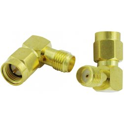 Super Power Supply® SMA Male to SMA Female Right Anagle L Adapter Coax Coaxial Connector
