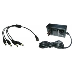 Super Power Supply® 12V AC / DC Adapter For CCTV Security Camera with 4 Port Individual Channel Connectors