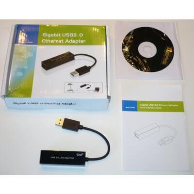 Super Power Supply® USB 3.0 to Gigabit Ethernet NIC Network Adapter 10/100/1000 LAN RJ45 IEEE 802.3 802.3u 802.3ab 10BASE-T 100BASE-TX 1000BASE-T Compatible